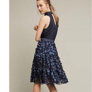 Anthropologie Eva Franco buttercup skirt navy 4
